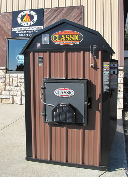Gauthier Heating and Cooling - Central Boiler Outdoor Wood Furnaces - Black River, MI